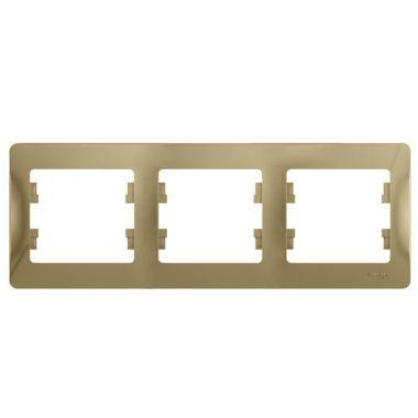 Рамка Glossa 3-постовая, горизонтальная, титан Schneider Electric