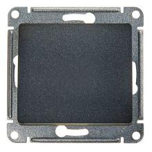 Выключатель 1-клавишный 10А механизм Glossa, антрацит Schneider Electric