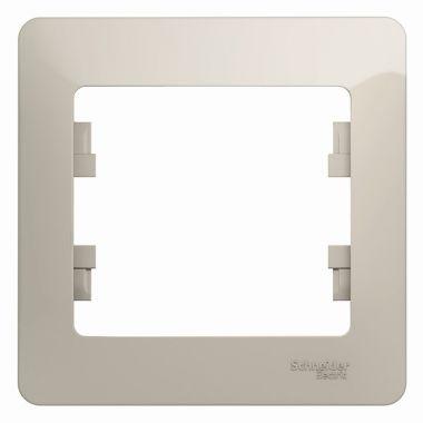 Рамка Glossa 1-постовая, молочный Schneider Electric