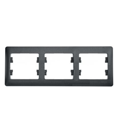 Рамка Glossa 3-постовая, горизонтальная, антрацит Schneider Electric