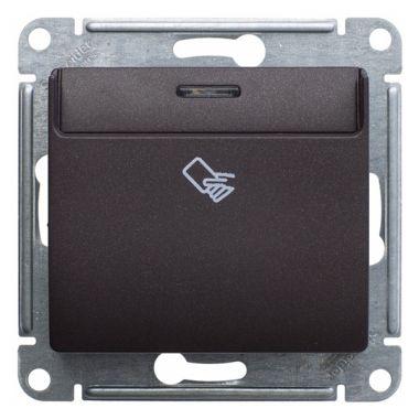 Карточный выключатель механизм Glossa, шоколад Schneider Electric
