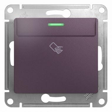 Карточный выключатель механизм Glossa, сиреневый туман Schneider Electric