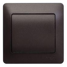 Выключатель 1-клавишный 10А в сборе Glossa, шоколад Schneider Electric