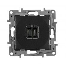 Зарядное устройство с двумя USB-разъемами тип C-С 240В/5В 3000мА Etika антрацит Legrand