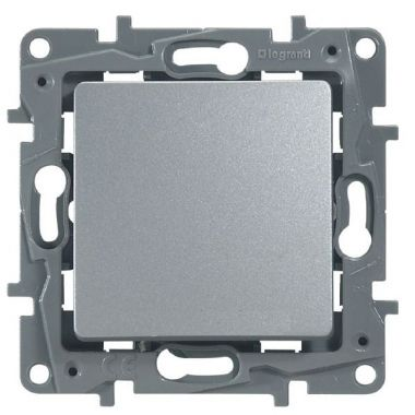 Кнопка Etika 6А, алюминий Legrand
