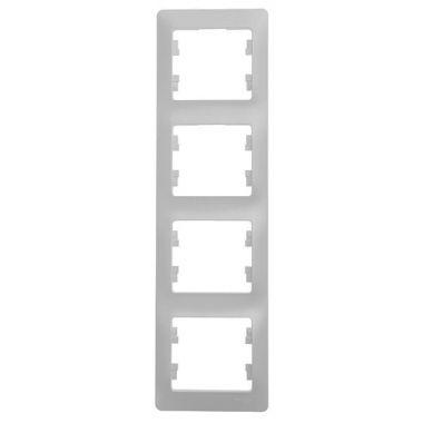 Рамка Glossa 4-постовая, вертикальная, перламутр Schneider Electric
