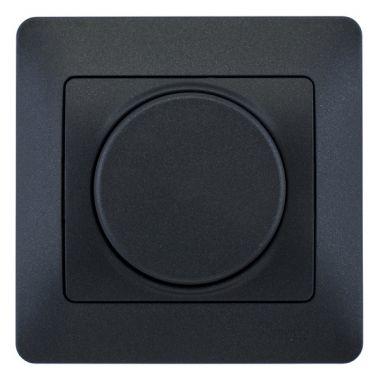 Светорегулятор (диммер) поворотный 300Вт в сборе Glossa, антрацит Schneider Electric