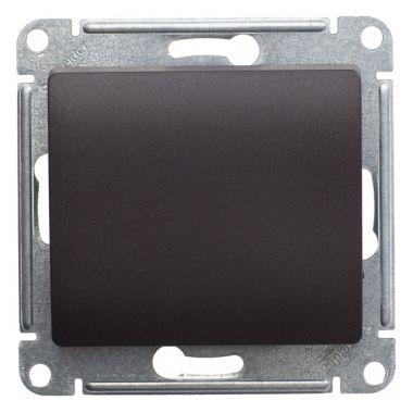 Переключатель 1-клавишный 10А механизм Glossa, шоколад Schneider Electric