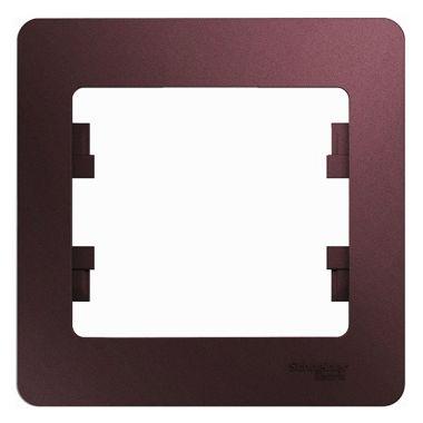 Рамка Glossa 1-постовая, баклажановый Schneider Electric
