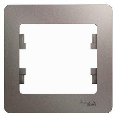 Рамка Glossa 1-постовая, платина Schneider Electric