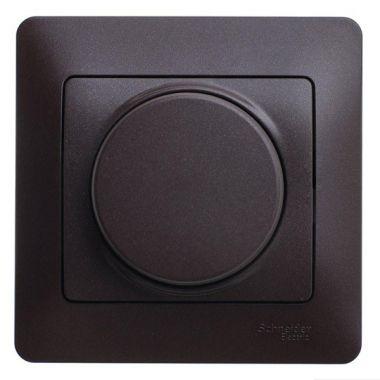 Светорегулятор (диммер) LED, RC, 630Вт/ВА в сборе Glossa, шоколад Schneider Electric