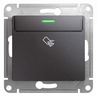 Карточный выключатель механизм Glossa, графит Schneider Electric
