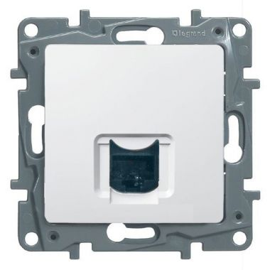 Розетка компьютерная Etika 1xRJ45 кат. 5e UTP, белый Legrand