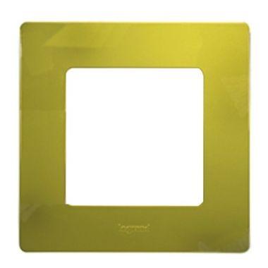 Рамка Etika 1 пост, зеленый папоротник Legrand