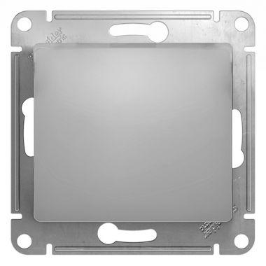Выключатель 1-клавишный 10А механизм Glossa, алюминий Schneider Electric