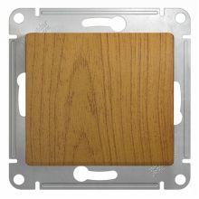 Выключатель 1-клавишный 10А механизм Glossa, дерево дуб Schneider Electric