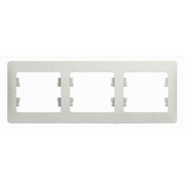 Рамка Glossa 3-постовая, горизонтальная, перламутр Schneider Electric