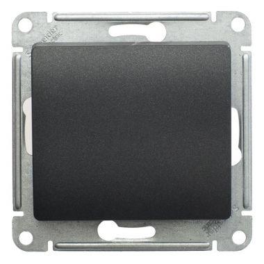 Кнопка 10А механизм Glossa, антрацит Schneider Electric