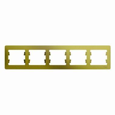 Рамка Glossa 5-постовая, горизонтальная, фисташковый Schneider Electric