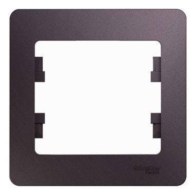Рамка Glossa 1-постовая, сиреневый туман Schneider Electric