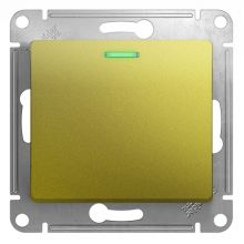 Выключатель 1-клавишный с подсветкой 10A  механизм Glossa, фисташковый Schneider Electric