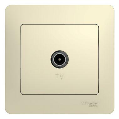 Розетка TV коннектор в сборе Glossa, бежевый Schneider Electric