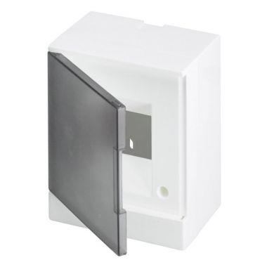 Бокс настенный 4М серая прозрачная дверь (с клеммами) Basic E ABB