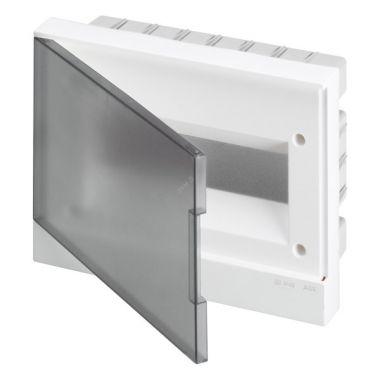 Бокс в нишу 12М серая прозрачная дверь (c клеммами) Basic E ABB