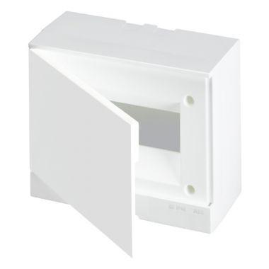Бокс настенный 8М белая непрозрачная дверь (с клеммами) Basic E ABB
