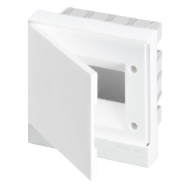 Бокс в нишу 6М белая непрозрачная дверь (c клеммами) Basic E ABB