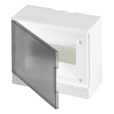 Бокс настенный 8М серая прозрачная дверь (с клеммами) Basic E ABB