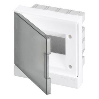 Бокс в нишу 6М серая прозрачная дверь (c клеммами) Basic E ABB