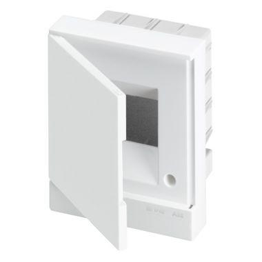 Бокс в нишу 4М белая непрозрачная дверь (c клеммами) Basic E ABB