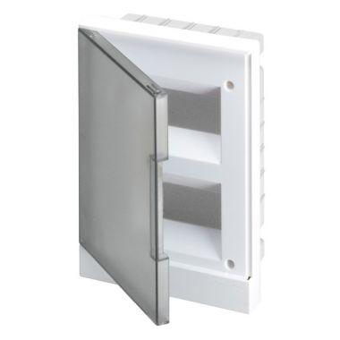 Бокс в нишу 16М серая прозрачная дверь (c клеммами) Basic E ABB