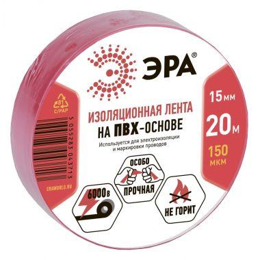 ПВХ-изолента 15ммх20м красная Эра
