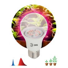 Лампа светодиодная LED красно-синего спектра FITO-10W-RB-E27-K Эра
