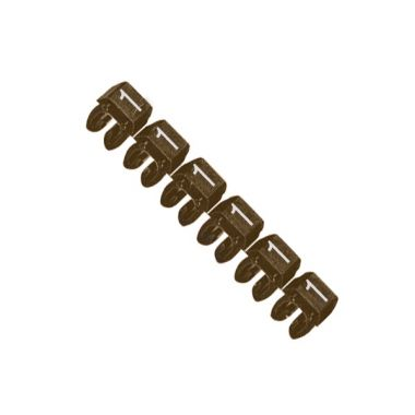 Маркер CAB3 для кабеля 0,5-1,5 мм2, цифра 1, коричневый Legrand