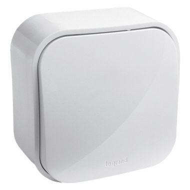 Выключатель Quteo кнопочный, белый  Legrand