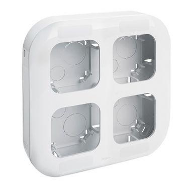 Рамка Quteo 4-постовая, белый  Legrand
