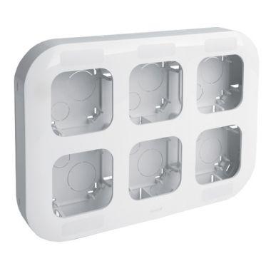 Рамка Quteo 6-постовая, белый  Legrand
