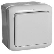 Выключатель Quteo 1-клавишный, IP44, серый Legrand