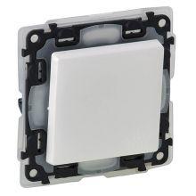 Выключатель IP44 10А, с лицевой панелью, безвинтовые зажимы, Valena Life, белый Legrand
