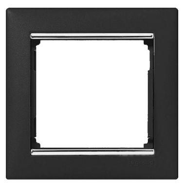 Рамка Valena 1-постовая ноктюрн/серебряный штрих Legrand