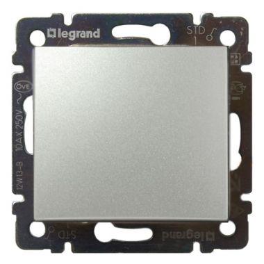Выключатель Valena 1-клавишный алюминий Legrand