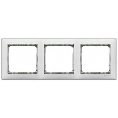 Рамка Valena 3-постовая белый/кристалл Legrand
