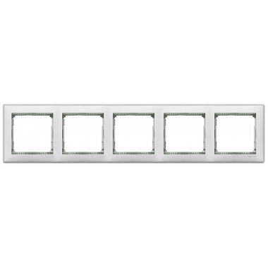 Рамка Valena 5-постовая белый/кристалл Legrand