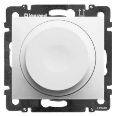 Светорегулятор (диммер) Valena поворотный универсальный 2-проводный 5-300 Вт белый Legrand