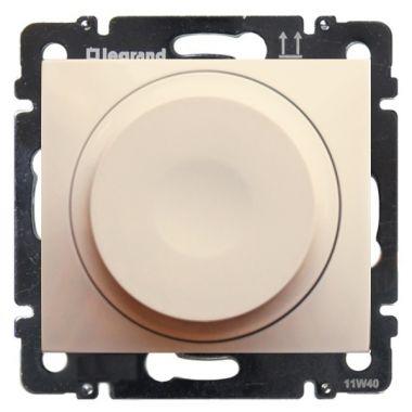 Светорегулятор (диммер) Valena поворотный универсальный 2-проводный 5-300 Вт слоновая кость Legrand