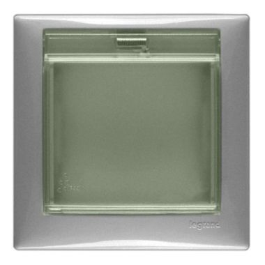 Рамка Valena 1-постовая с крышкой IP44 алюминий Legrand