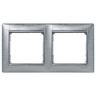 Рамка Valena 2-постовая алюминий модерн Legrand